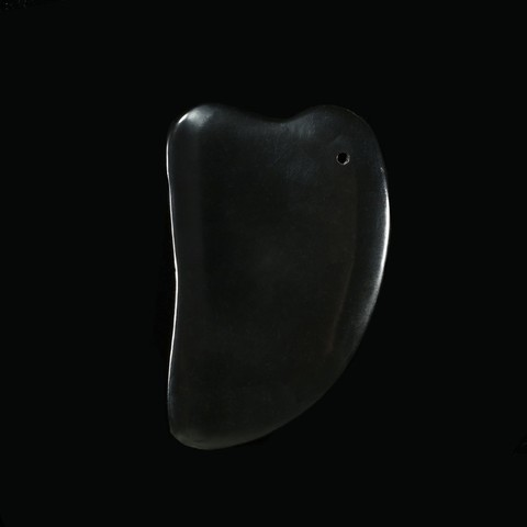 Скребок Гуаша для массажа Шунгит, сердце 9,5 см