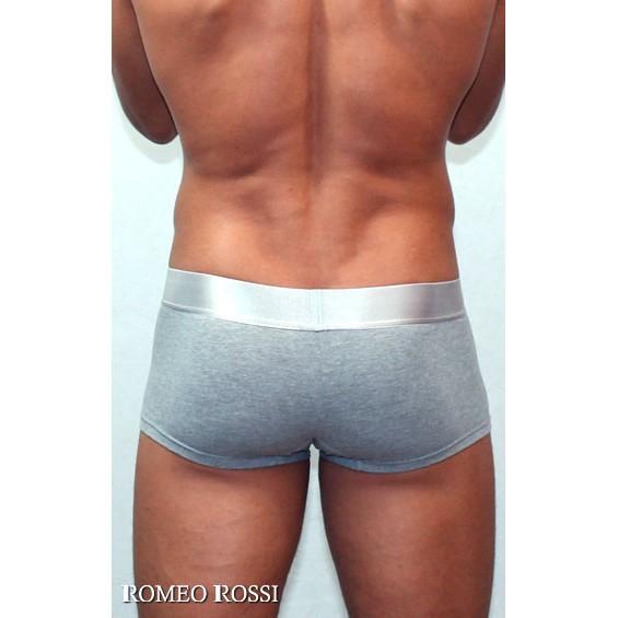 Мужские трусы боксеры серые Romeo Rossi Steel Grey Boxer RR00013-3