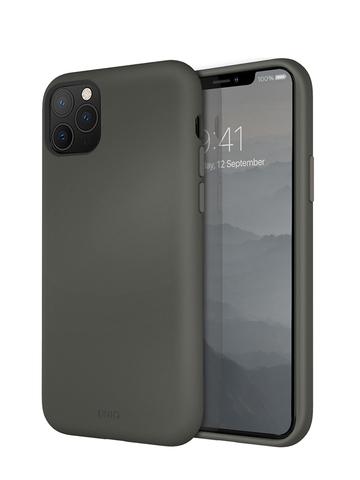 Чехол Uniq LINO для iPhone 11 Pro   серый микрофибра
