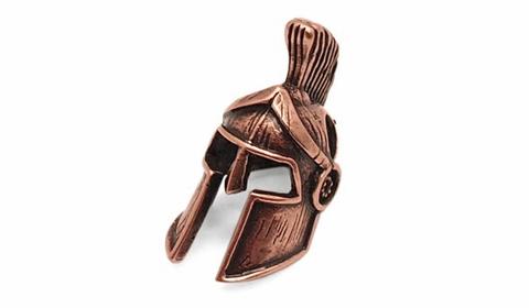 Бусина для темляка Шлем Спартанца бронза PTB10B