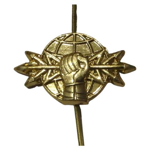 Эмблема петличная РЭБ, металл. золотой