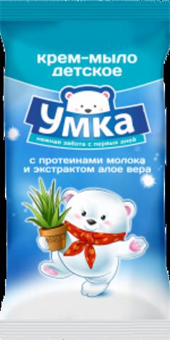 Детское мыло с протеинами молока и алое вера Умка, 80Г