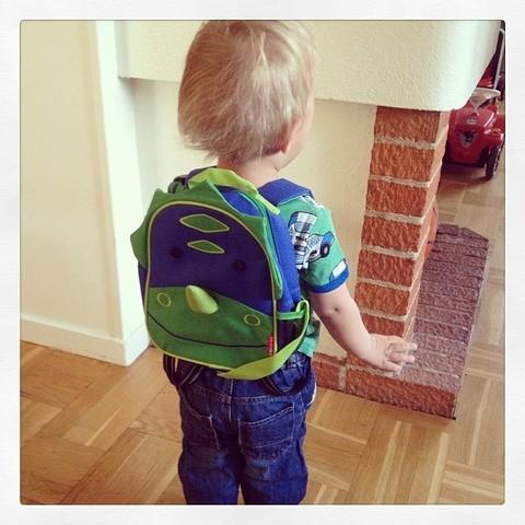 Рюкзак детский с поводком Skip Hop Zoo Динозавр