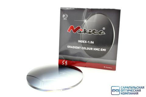 Линза очковая полимерная с градиентом серая GRADIENT COLOUR HMC EMI INDEX-1.56