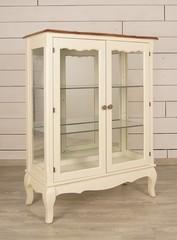 2-х дверная стекл. витрина, низкая