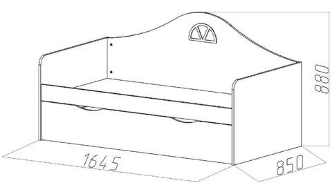 Детский диван-кровать с ящиком размеры