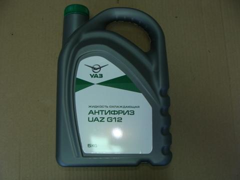 Антифриз УАЗ G12 (зеленый) 5 кг