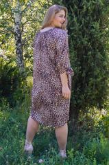 Алевтина. Ніжна сукня великих розмірів. Леопард.