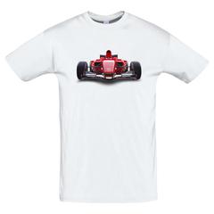 Футболка с принтом Формула-1 (Гонки/ F1/ Formula 1) белая 0020