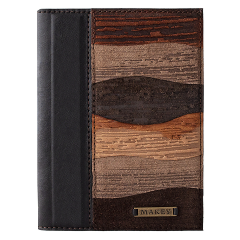 Обложка на паспорт «Фьорды». Цвет коричневый