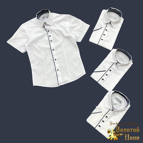 Рубашка мальчику (116-158) 210605-SH78015
