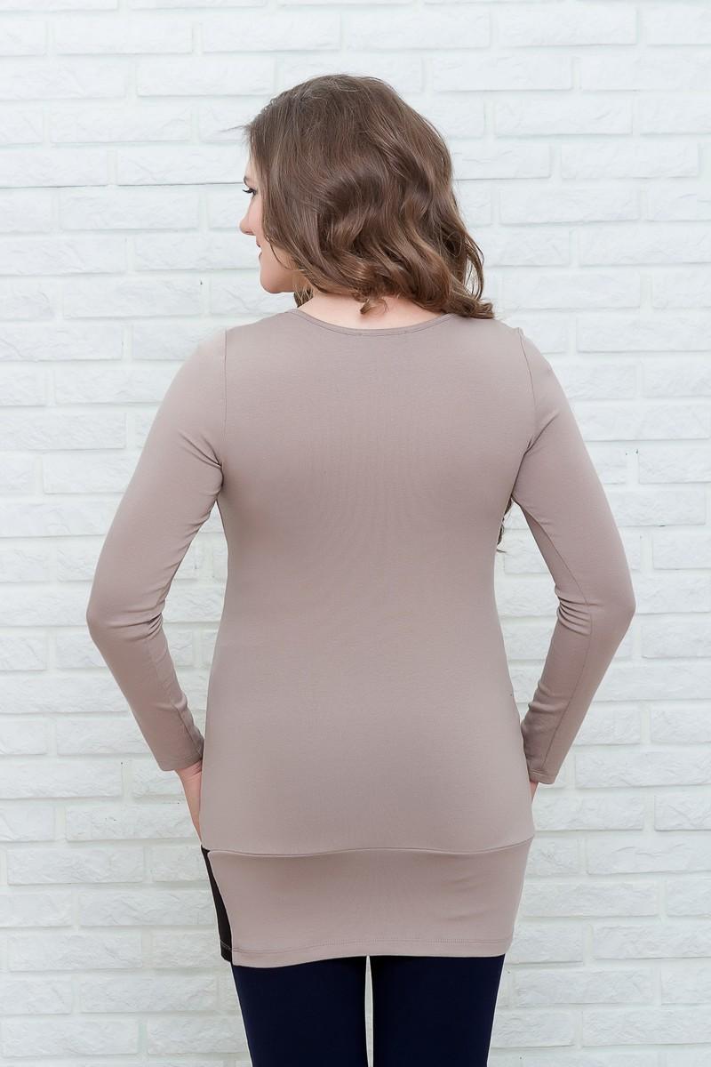 Туника для беременных 07166 коричневый