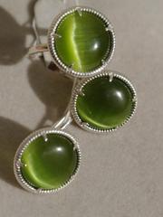 Зора (кольцо + серьги из серебра)