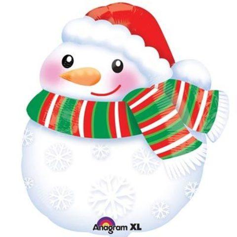 А ФИГУРА/S50 Снеговик в шарфе