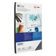 Обложки для переплета пластиковые GBC А4 180 мкм прозрачные глянцевые (100 штук в упаковке)