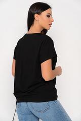 <p>Отличная футболка свободного силуэта, на кулиске по низу изделия.Длина изделия 64см.</p>