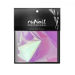 RuNail с эффектом битое стекло 4х100 см цвет сиреневый арт :3149