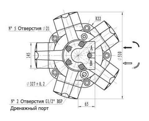 Гидромотор IPM7-1400