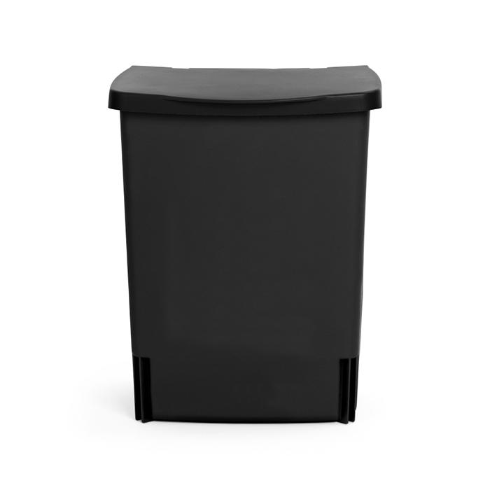 Встраиваемый мусорный бак (10 л), Черный, арт. 395246 - фото 1