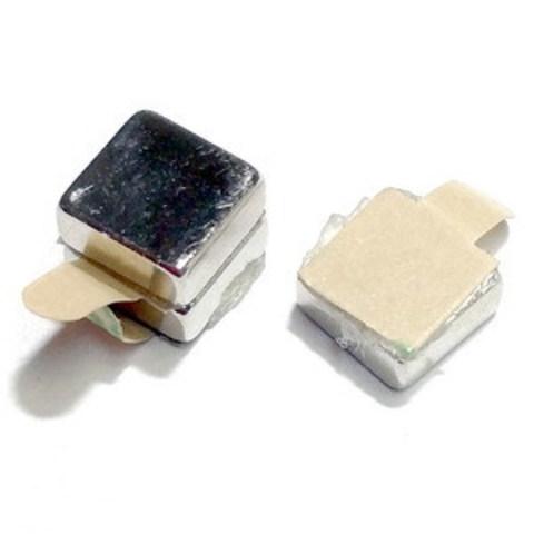 Магнит неодимовый блок 6х6х2,5 мм с клеевым слоем