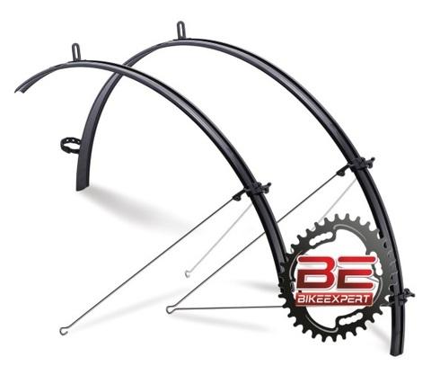 Крылья велосипедные полноразмерные Flinger SW-FE137F/R