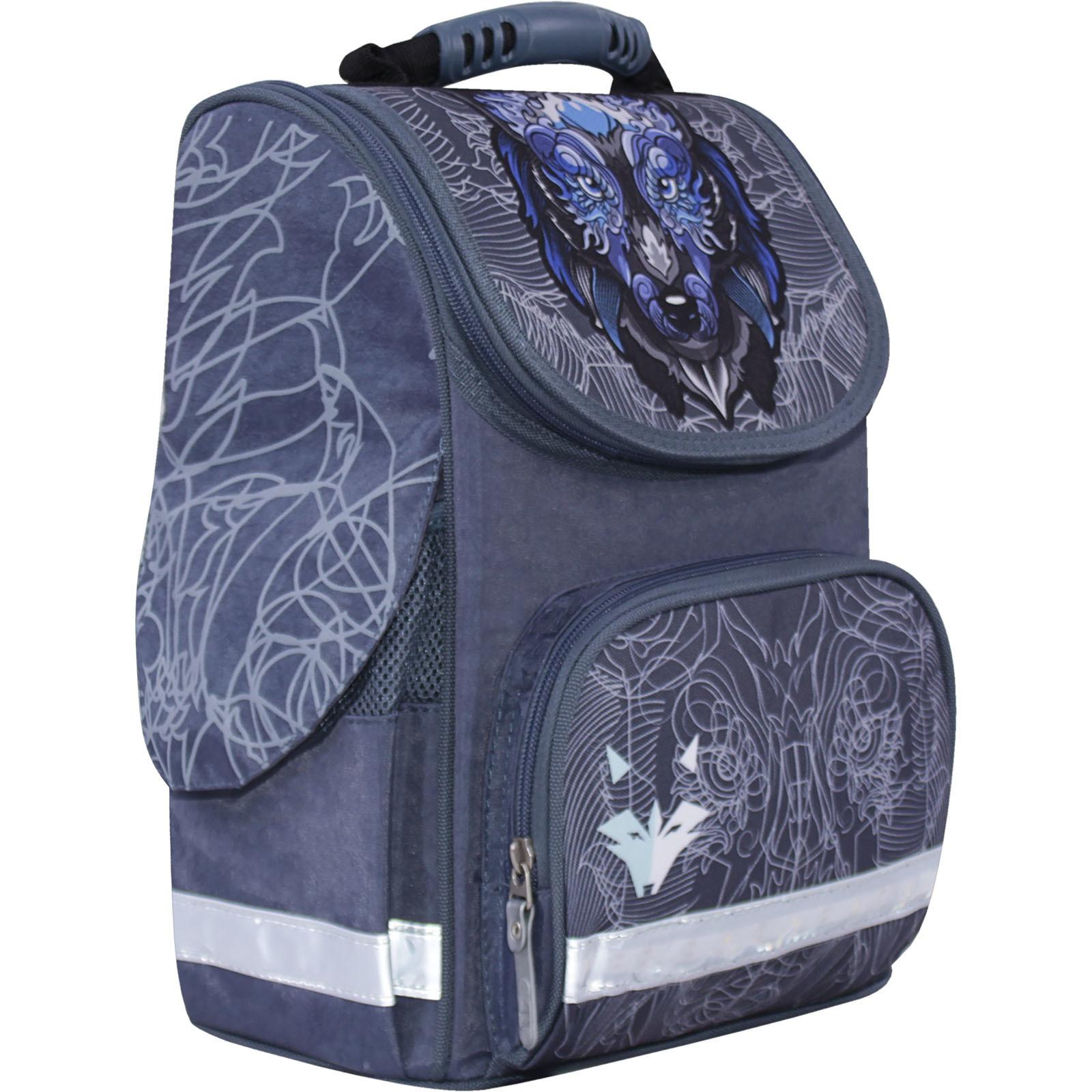 Рюкзак школьный каркасный с фонариками Bagland Успех 12 л. серый 506 (00551703)