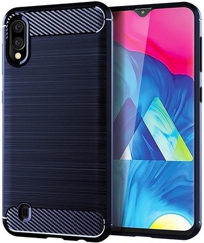 Чехол Carbon для Samsung Galaxy A10/M10 серия Карбон | синий
