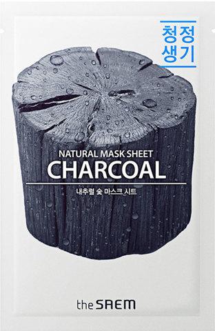 СМ Маска на тканевой основе для лица N с древесным углем  Natural Charcoal Mask Sheet 21мл