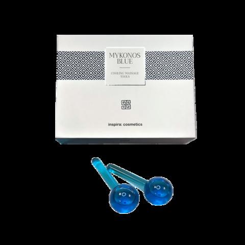 INSPIRA | Охлаждающие шарики для массажа лица из стекла / Mykonos blue cooling massage tools