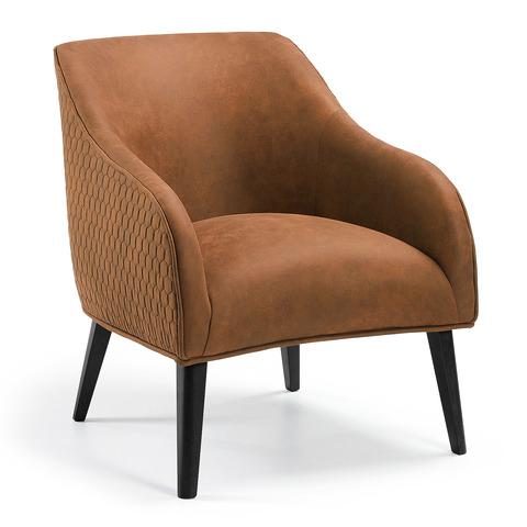 Кресло Lobby коричневое черные ножки