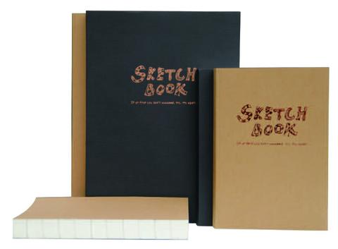 Альбом Potentate Simple Sketch Book (Black Cover), 120 листов, A4