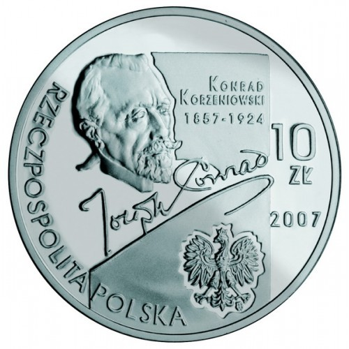 10 злотых. Конрад Коженёвский (1857-1924). 2007 год. Польша.
