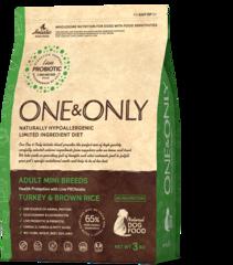 Сухой корм One&Only Turkey & Brown Rice Adult Mini Breeds
