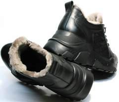 Кроссовки сникерсы женские черные зимние Studio27 547c All Black.