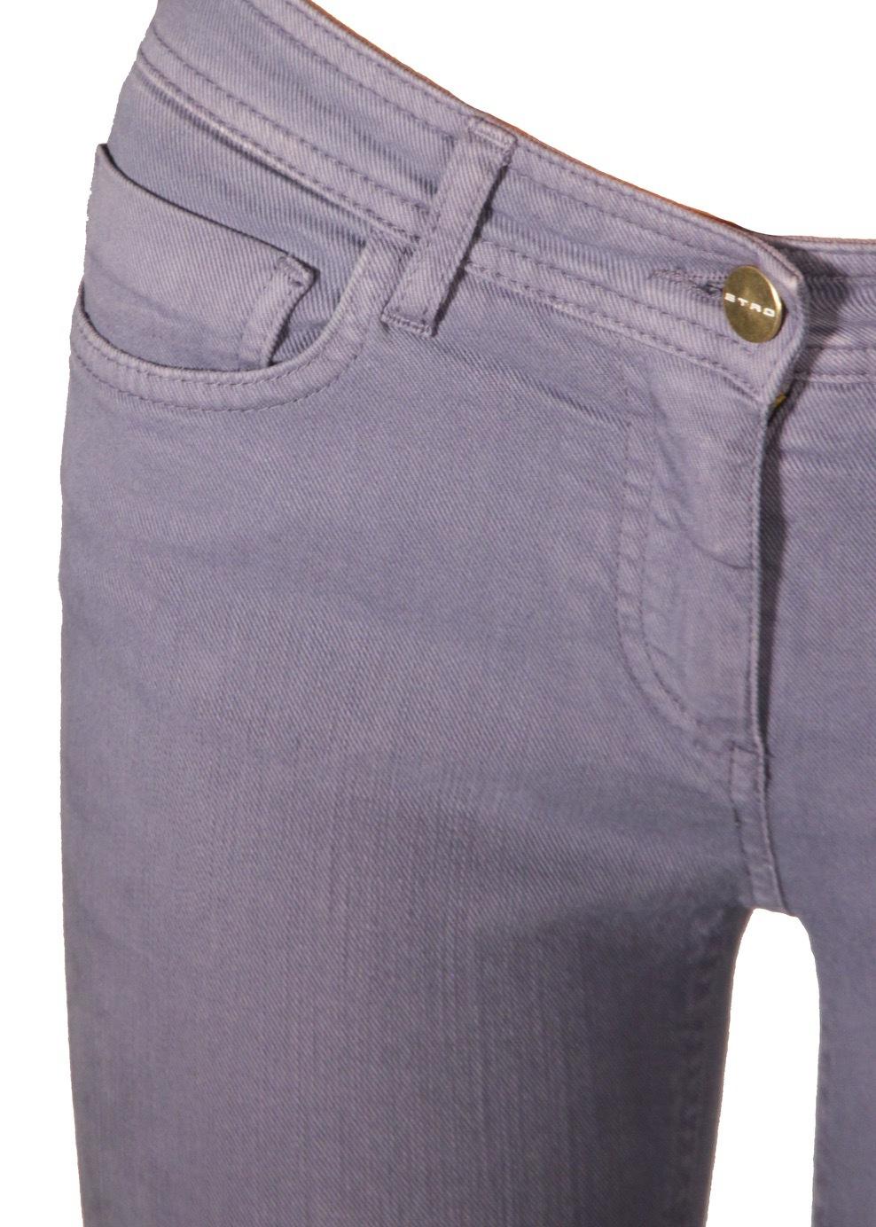 Джинсы. Цвет лиловый/бирюзовый ETRO