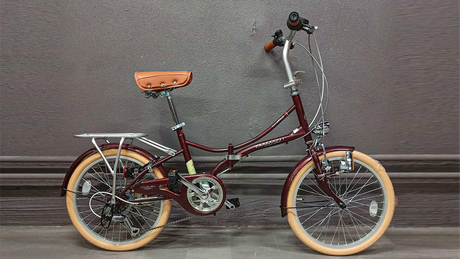 Японский складной велосипед MyPallas M260 винный