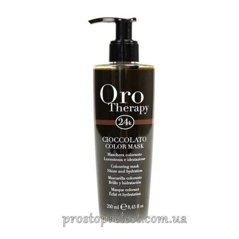Fanola Oro Therapy Cioccolato Color Mask - Інтенсивна тонуюча маска для волосся шоколадна