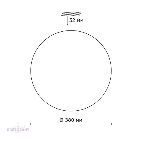 Настенно-потолочный светильник 2043/DL серии MODES