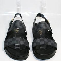 Модные мужские сандалии Louis Vuitton 1008 01Blak.