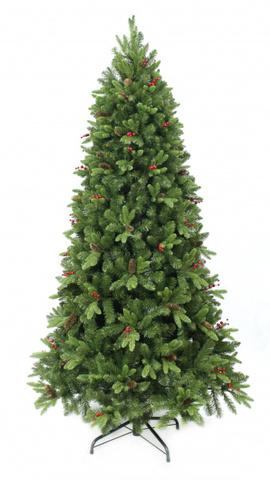 Ёлка Beatrees Winter Melody шишки и ягоды 180 см. зелёная