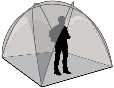 Шатер Canadian Camper SPACE ONE, цвет royal, схема 2.