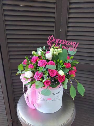 Цветы в  шляпной коробочке  #28574