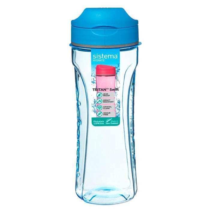 "Бутылка для воды Sistema ""Hydrate"", Тритан, 600 мл, цвет Голубой"