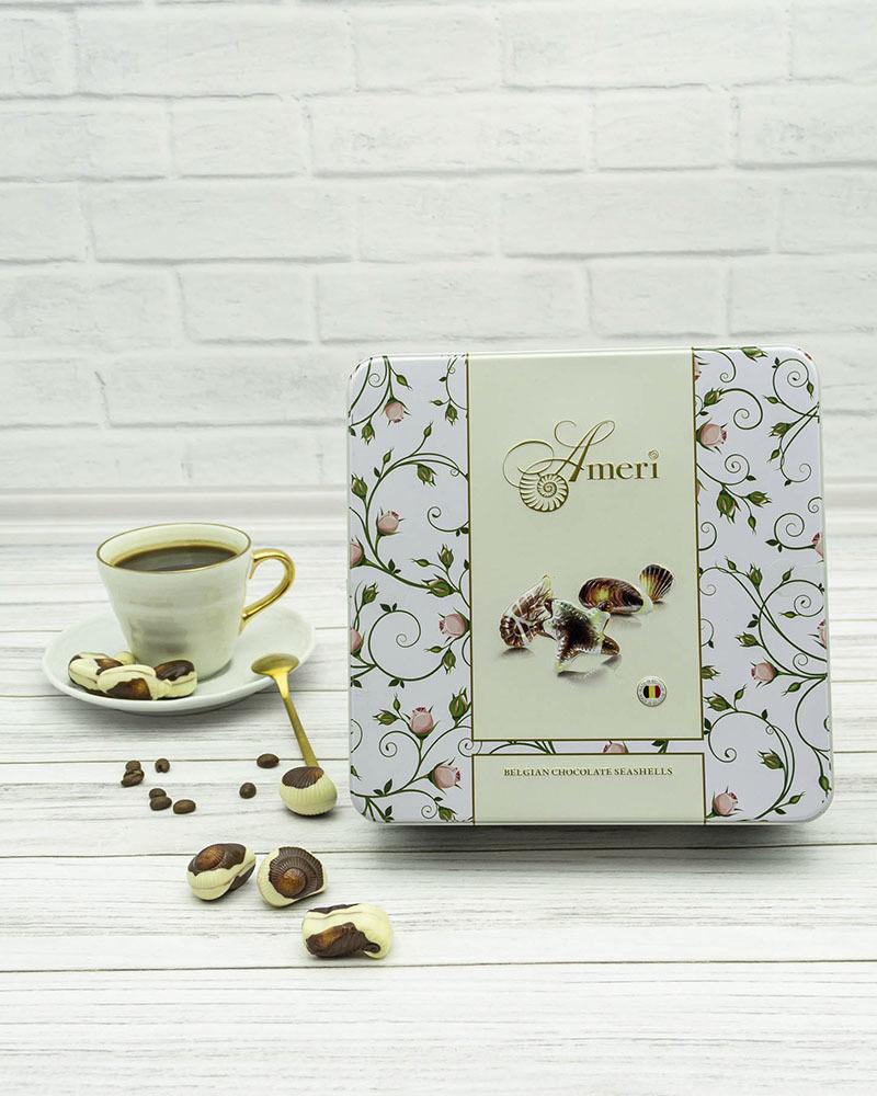 Шоколадные Конфеты Ameri с Начинкой Пралине в Весенней Жестяной Коробке 500 гр.
