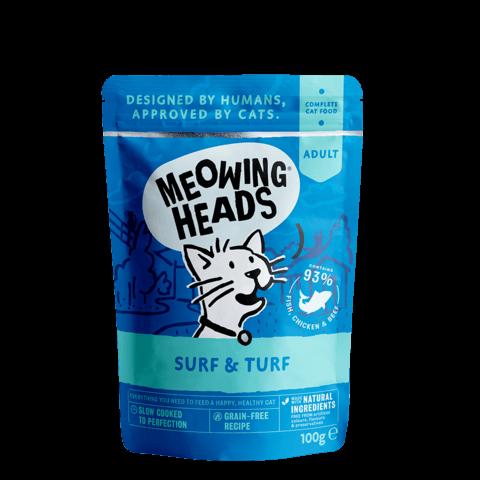 купить паучи для котят и кошек Баркинг Хедс Meowing Heads Все лучшее сразу в везукорм