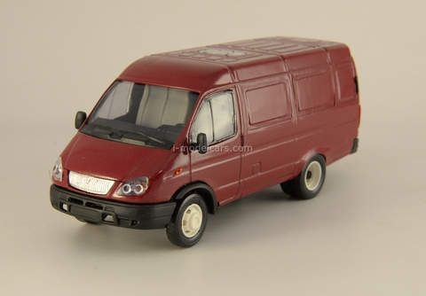 GAZ-2705 Gazelle van restyling dark red Agat Mossar Tantal 1:43