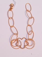 Ромашка (серебряный браслет с позолотой)
