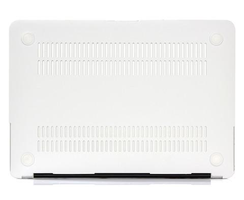 Чехол для Macbook - Бело-серый мрамор