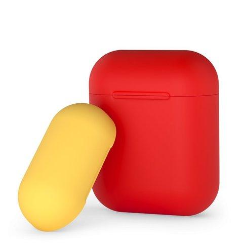 Чехол силиконовый Deppa для AirPods D-47016 0.8мм Красно-желтый