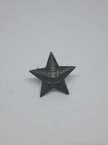 Звезда на погоны мет. риф. защ. 20мм. (серый оттенок)